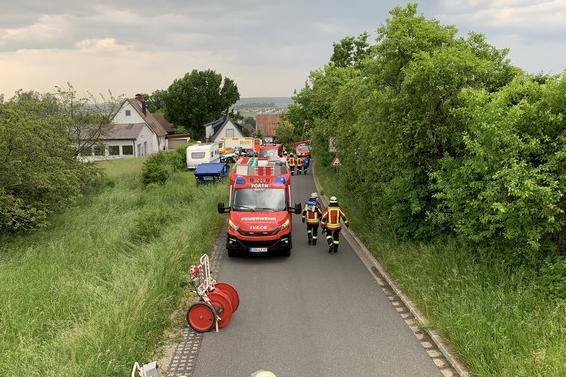 08.06.2021 schwerer VU Person eingeklemmt7 1 – Feuerwehr Forth