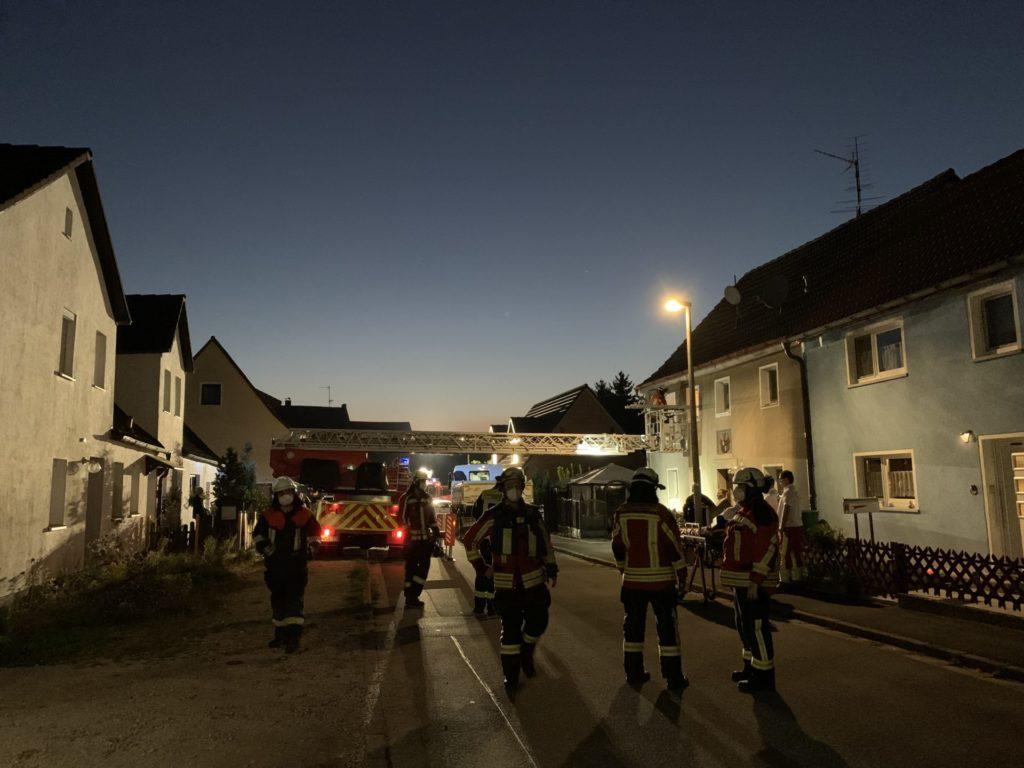FF Forth Personenrettung ueber DLK – Feuerwehr Forth