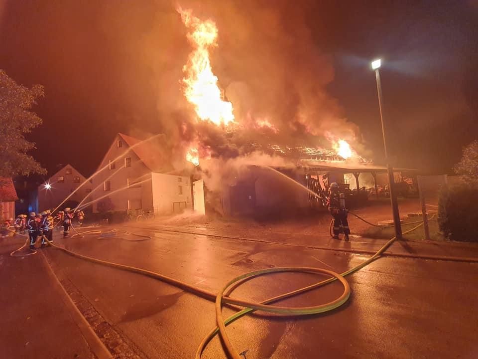 FF Forth 12.10.2021 Scheunenbrand Herpersdorf 1 – Feuerwehr Forth